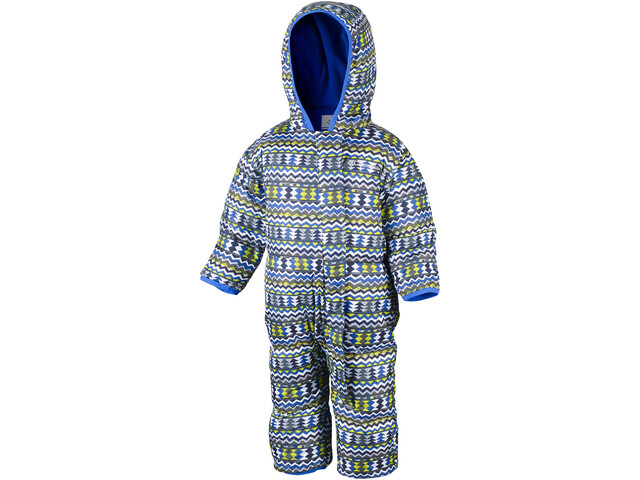 Columbia Snuggly Bunny Bunting Combinaison de protection Enfant, cool grey zigzag/super blue